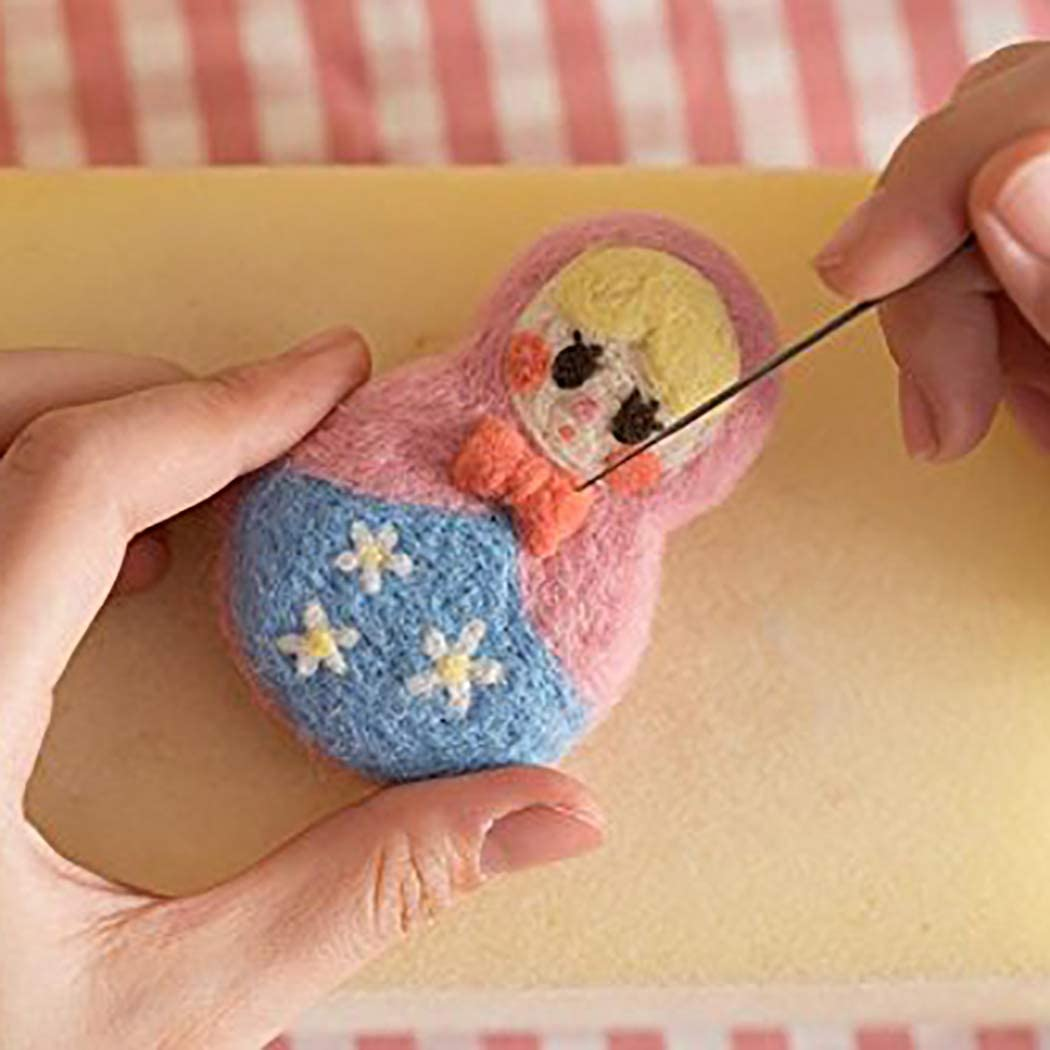 Zoylink Needle Felting Kit 40-Color DIY Craft Wool Roving Felting Needles for Beginners