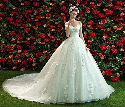 Generic Orchids_static_if_ new _word_ shoulder _halter_ wedding dress Korean thin long _tail_custom_bridal_ flowers