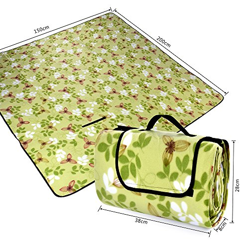 """OutMorgo Picnic Blanket Oversize 80""""x 80"""", Fold able and Portable Tote, Waterproof and Sand Proof Mat - Best for Picnic,Beach,RV,Outing Grass Trip Party and Music Festivals by OutMorgo"""