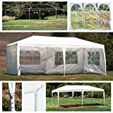 Bellezza© 10 x 20-Feet White Canopy with (4) Sidewalls Party Wedding Tent Cater Event Outdoor