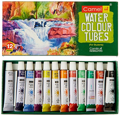 Camel Student Water Color Tube - 5Ml Each, 12 Shades by Camel