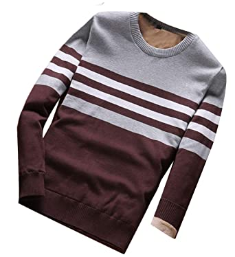 omniscient Men Crew Neck Long Sleeve Knitted Casual Top Sweater