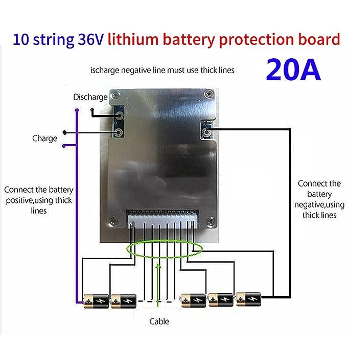 Amazon.com: 10S Lithium Li-ion LiFePO4 Battery Protection ... on