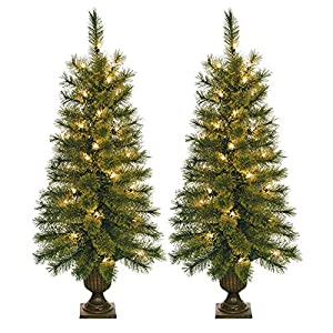jeco 35 artificial christmas tree with plastic pot stand set of 2 - Christmas Tree In A Pot