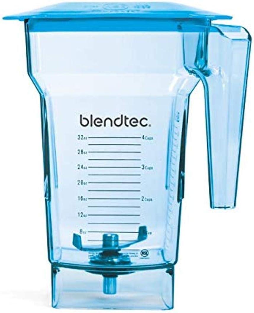 Blendtec FourSide Jar (75 oz) Four Sided, Professional-Grade Blender, Vented Latching Lid, BPA-Free, Blue