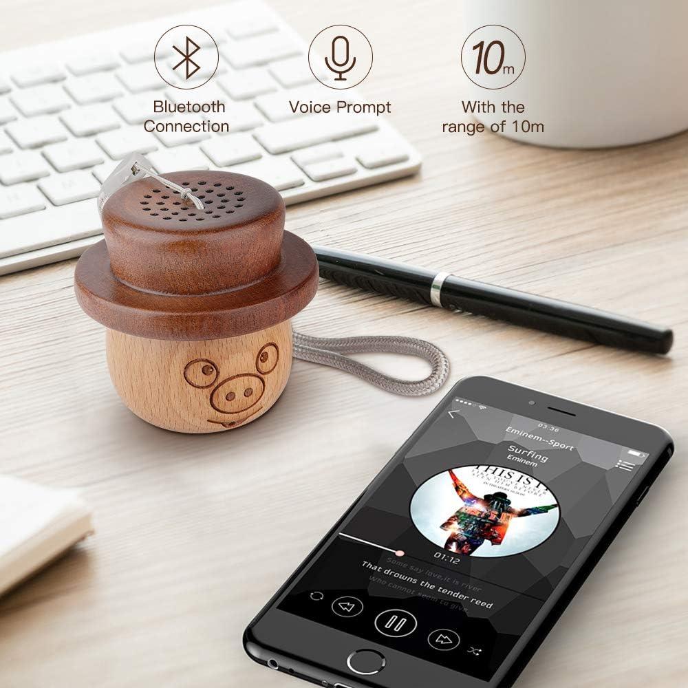 Small Mini Bluetooth Speaker Portable Speaker for Home Natural Wooden Outdoor Travel Decor Relassy Wireless Bluetooth Speaker