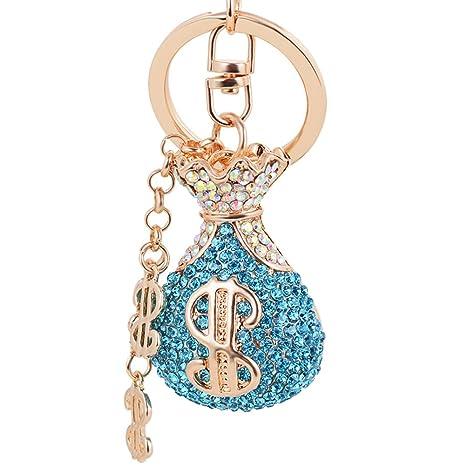 Qinlee - Llavero con diseño de bolsa de la suerte con ...