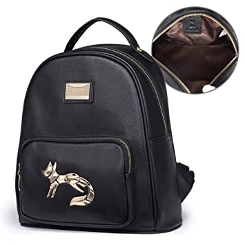 6d82a67441d FOXER Women Genuine Leather Backpack Purse Small Backpack Casual Shoulder  bag Clearance Sale