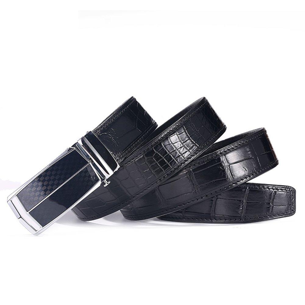 Youth business casual belt Simple men's belts-black 125cm(49inch)