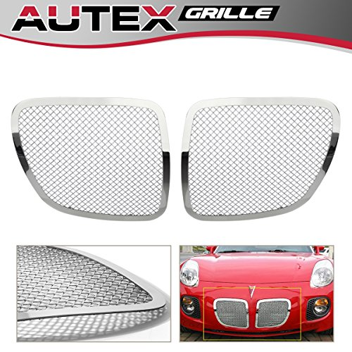 AUTEX P75545T Chrome Stainless Steel 1.8mm Wire Main Upper Mesh Grille Insert for 2006 2007 2008 2009 Pontiac Solstice Grill - Accessories Solstice