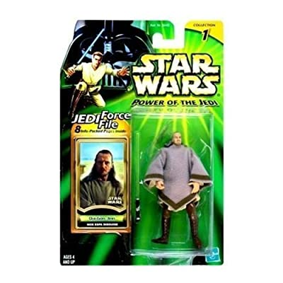 Star Wars: Power of the Jedi Qui-Gon Jinn (Mos Espa Disguise) Action Figure: Toys & Games