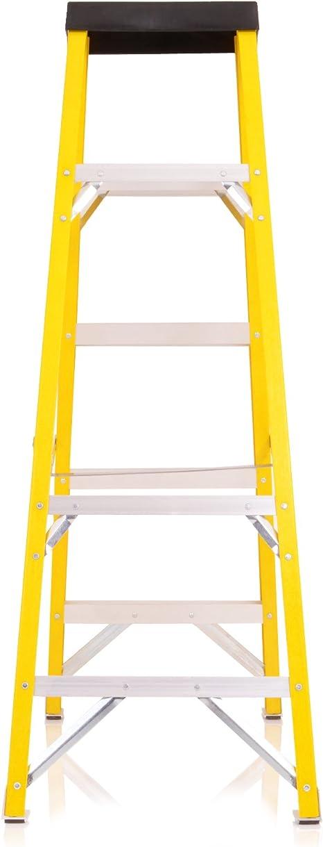 Heavy Duty 150 kg 5 paso escalera de electricista 30000 V fibra de vidrio escalera de seguridad: Amazon.es: Bricolaje y herramientas