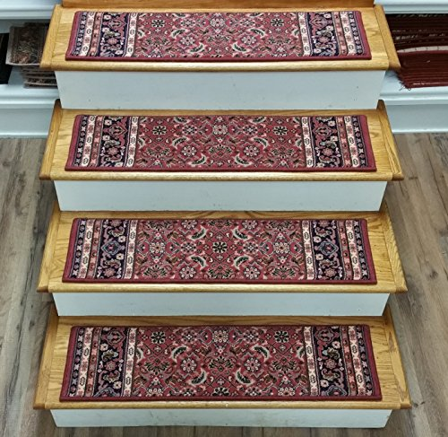 181487 - Rug Depot Traditional Oriental Carpet Stair Treads - Set of 13 Treads 33