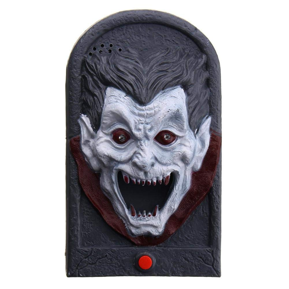 Pleasay Halloween Decorative LED Light Doorbell with Spooky Sounds Haunted House Prop Lamp Halloween Party Prop Decoration Great by Pleasay (Image #6)