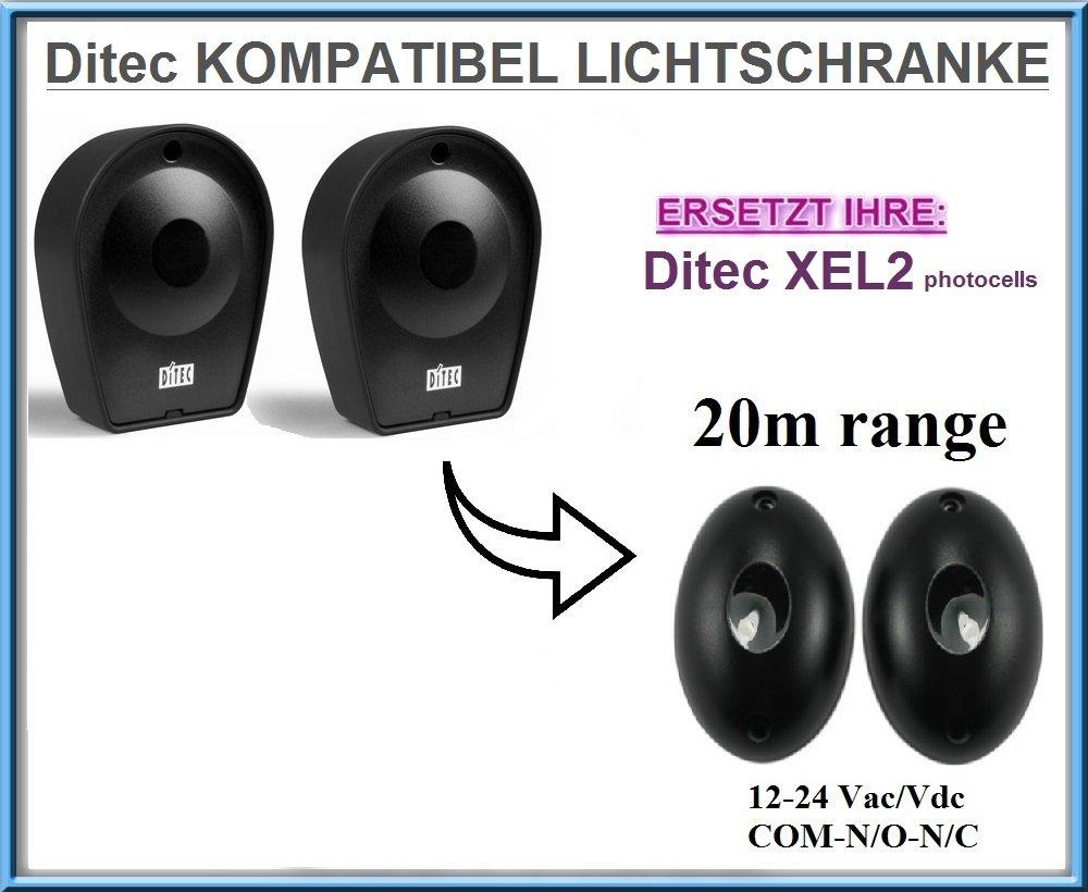 Ditec XEL2 kompatibel lichtschranke NO//NC paare von /äu/ßere universale Fotozellen // Infrarot IR Sicherheit Sensor 12-24 Vac//Vdc Reichweite: bis 20m!!!