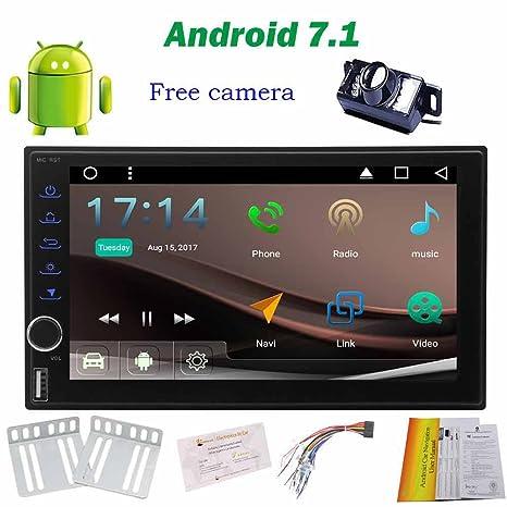 7 Android 7.1 estéreo del coche accesorios del coche Unidad ROM Cabeza 2 GB