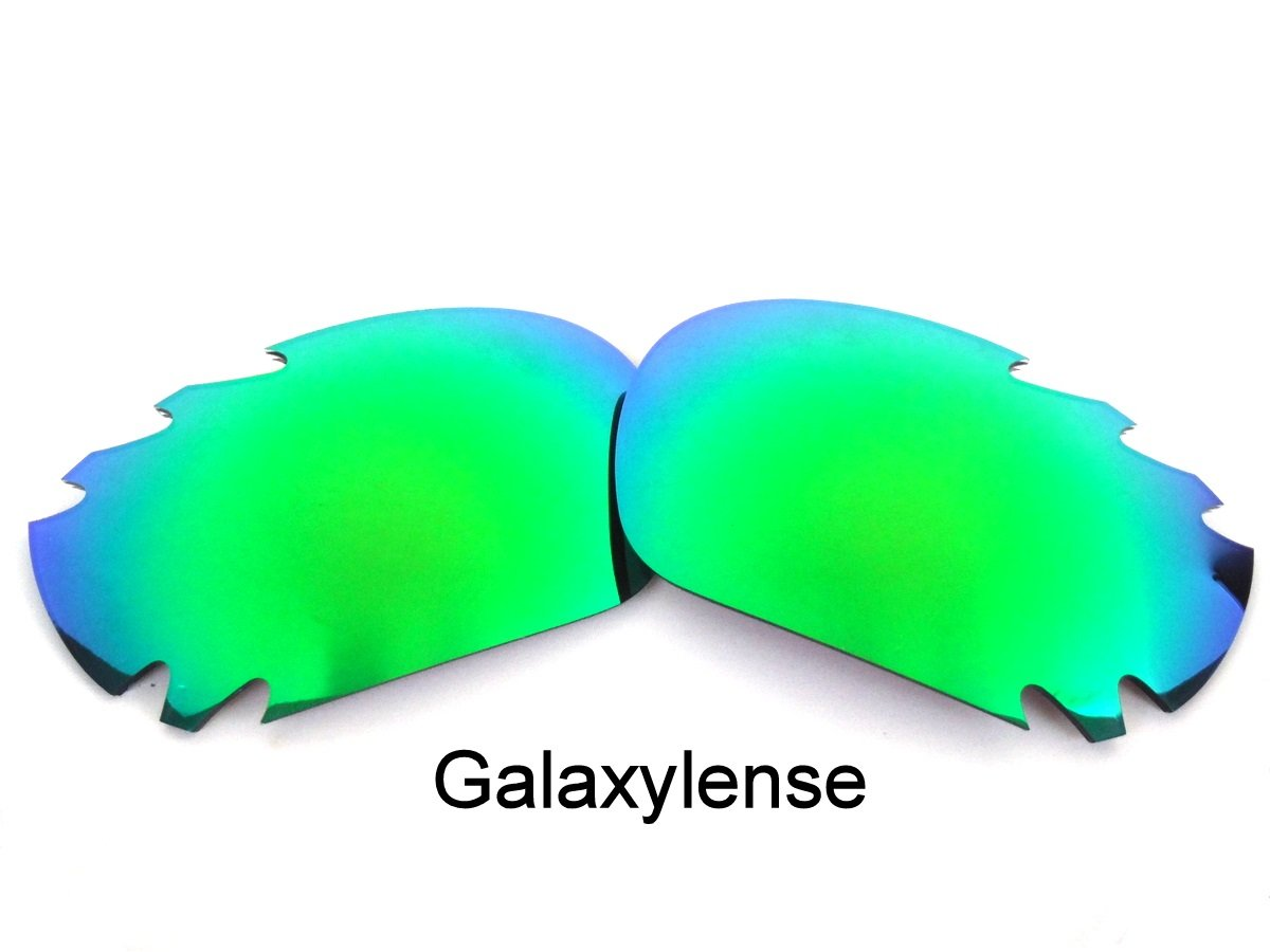 Galaxy Replacement Lenses for Oakley Racing Jacket Emerald Green Color Polarized,FREE S&H.