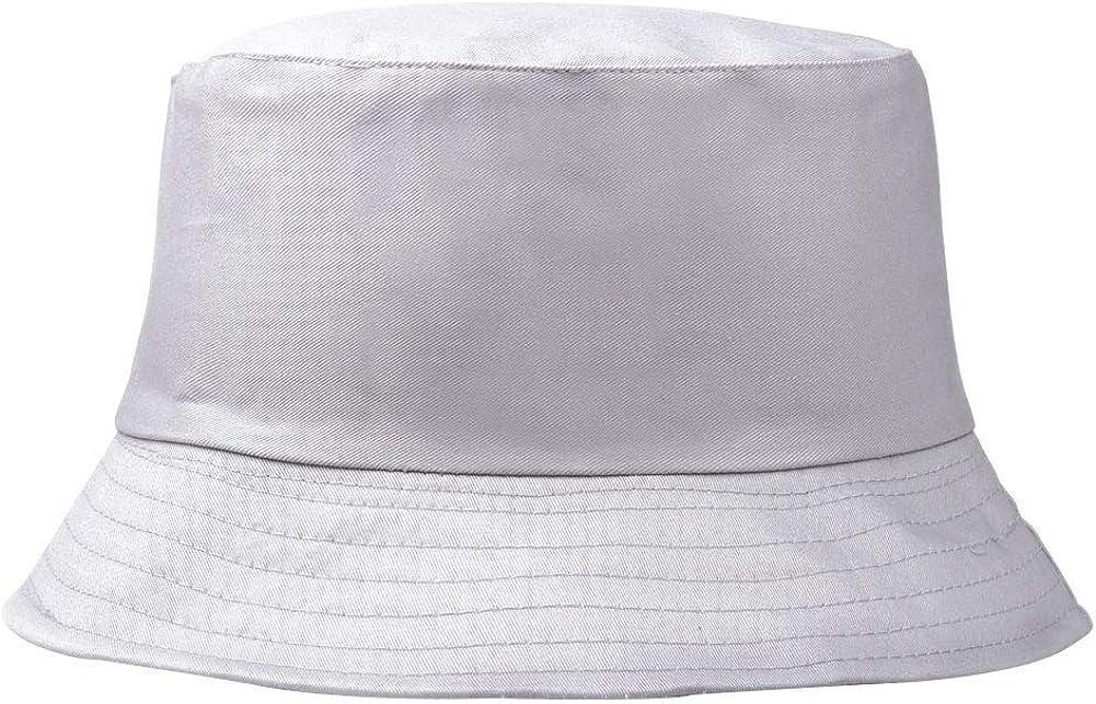 Unisex Cotton Fischer Hut-Wannen-Cap Fest Farbe Sonnenhut Im Freien Faltbare Flatcap F/ür Frauen-Mann