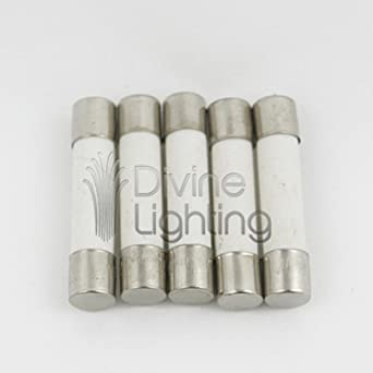 Set of 5 MDA 15a 250v Slow Blow Ceramic Fuses 6x30mm T15a 15 Amp for sale online