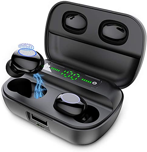 Wireless Earbuds, Bluetooth 5.0 Earphones with 3500mAh Charging Case 3D Stereo Sound 80H Playtime in-Ear Headset, Smart Touch IPX7 Waterproof True Wireless Headphones Built-in Mic for Work Sports