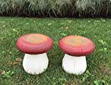 Toadstool- Set of 2 Red Stools