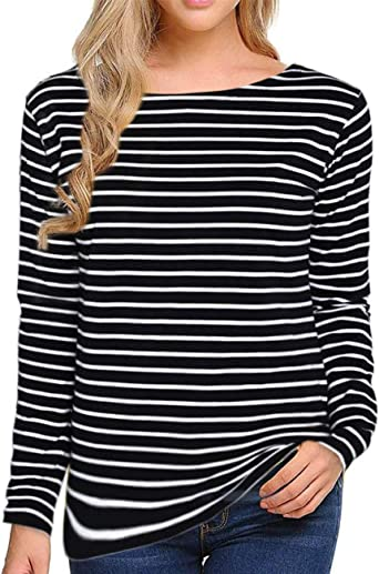 women's striped shirt long sleeve