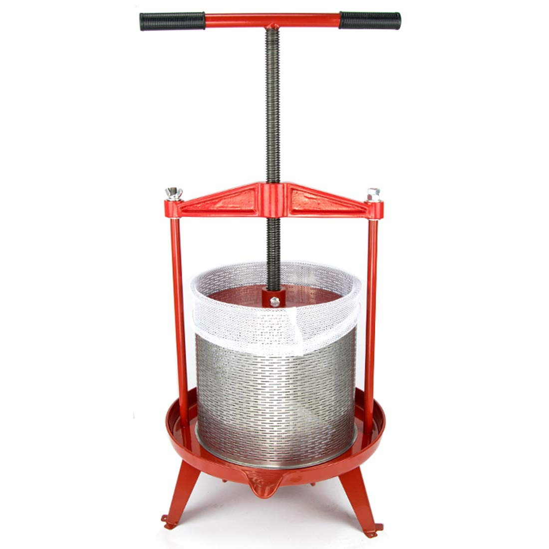 3.69 Gallon Heavy-duty Cross-beam Stainless Steel Fruit and Wine Press by EJWOX