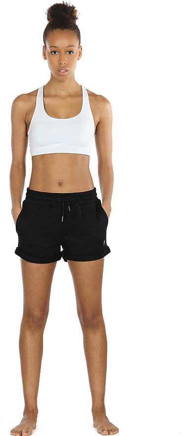 S,Navy icyzone Damen Shorts Sport Yoga Kurze Hose Sweatpants Laufshorts Baumwolle