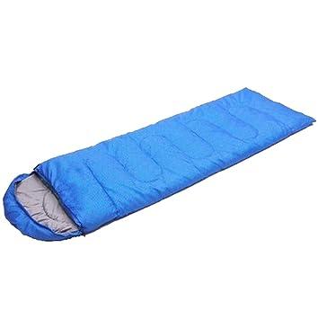 S Cómodos Ligeros Portátiles Fáciles De Comprimir Sobres Con Capucha Estampados Sacos De Dormir Calientes (azul Y Verde): Amazon.es: Deportes y aire libre