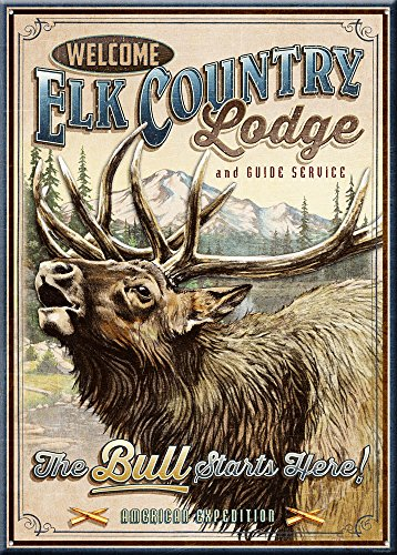 American Expedition Tin Sign - Elk Country Lodge ()