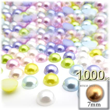 8mm Large Bag White Pearl Finish Acrylic Beads Mixed//Assorted Sizes 3mm