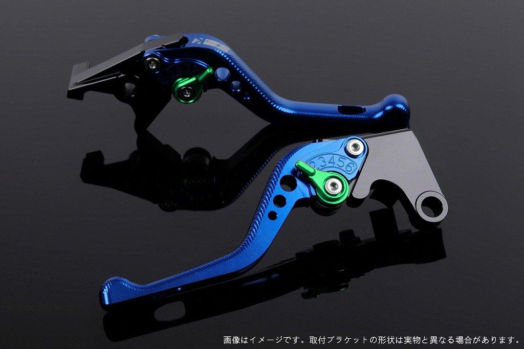 SSK アジャストレバー 3Dショート レバー本体カラー:ブルー アジャスターカラー:グリーン TUONO V4R/Factory 2011-2016 AP0407112-GN B07MX7KDQD
