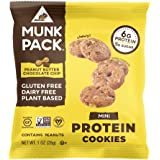 Munk Pack Peanut Butter Chocolate Chip Mini Protein Cookies with 6 Grams of Protein | Cookie Snack Pack | Vegan | Gluten…