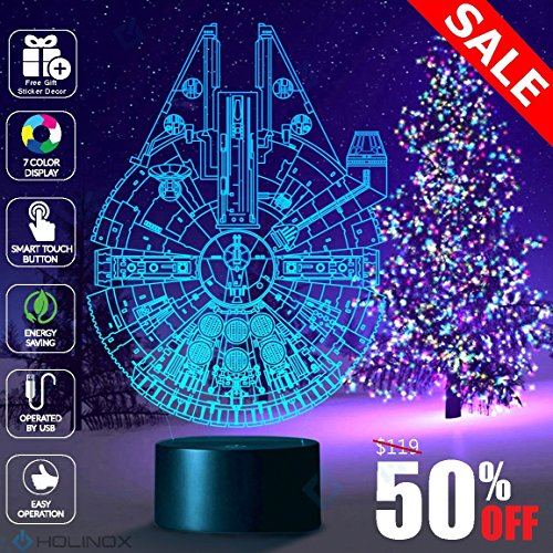 Millennium Falcon Star Wars Lighting Gadget Lamp Decor Awesome Gift (Figure Plush Star)