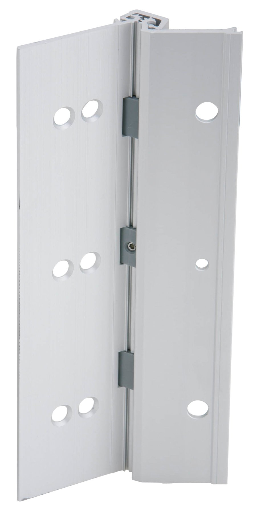 Ives 224HD US28 83'' Full Mortise Aluminum Geared Continuous Hinge, Satin Aluminum Finish, 48'' Open Width