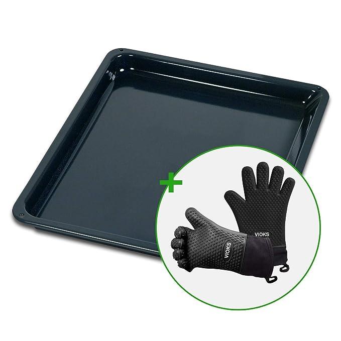 AEG 387885520/8 - Bandeja de horno con 2 guantes de silicona (466 ...