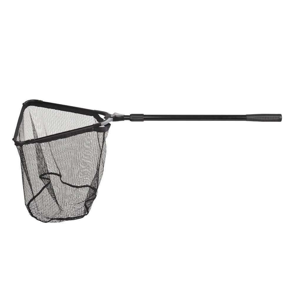 Fiblink Folding Aluminum Fishing Landing Net Fish Net with Extending Telescoping Pole Handle(Extend Length: 44-60 inches-with Larger net)