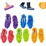 Mop Slippers,Mop Shoes,5 Pair Multifunction Microfiber Dust Mop Shoes Slippers Cleaning for Home, 5Colors