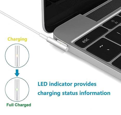 AndMore Cargador Compatible con MacBook Pro 85W, Cargador MacBook, MagSafe 1 Forma de L Adaptador de Corriente Funciona con los Macbook 45W / 60W / ...