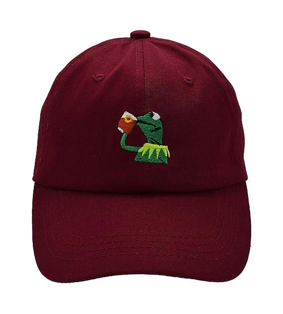 Amazon.com: raylarnia Kermit la rana beber té Strapback ...