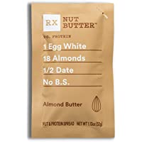 RX Nut Butter, Almond Butter, 1.13oz, 10 Count, Keto Snack, Gluten Free