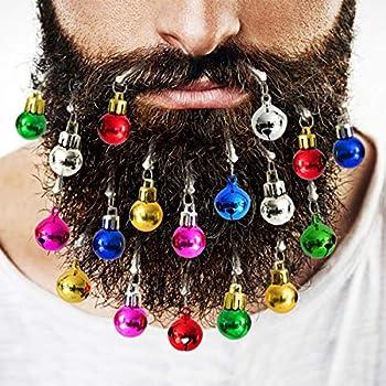 e27915985f1d8 Amazon.com: Beardaments Beard Ornaments, 12pc Colorful Christmas ...