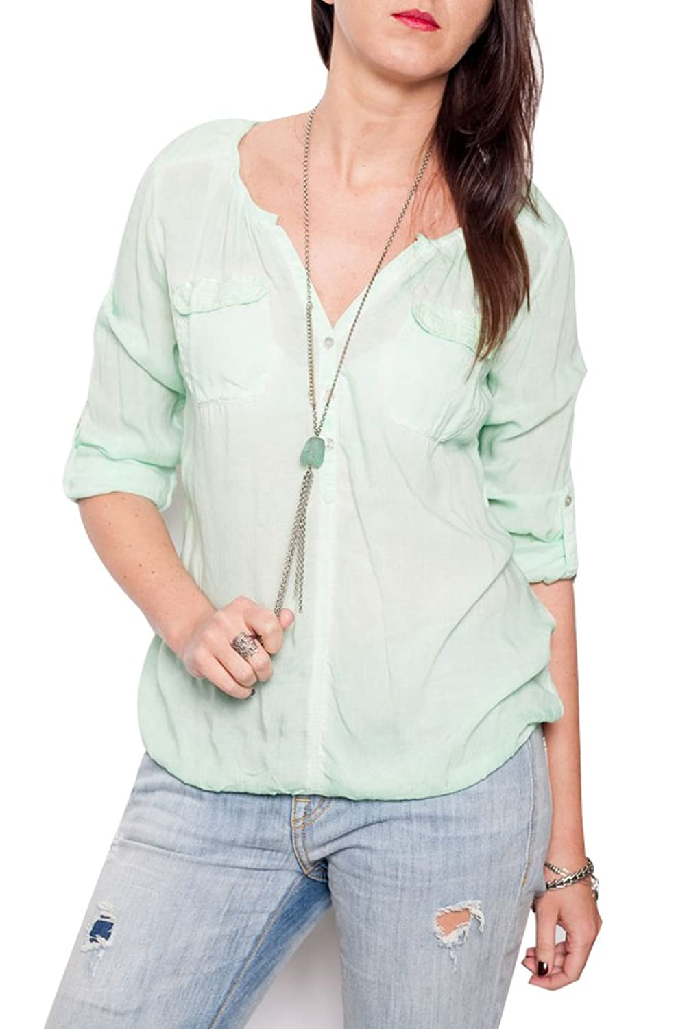 Overdrive womens Pigment Spray Blouse Embellished with Sequins