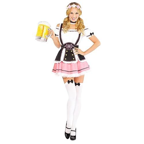 Oktoberfest Wench Ladies Fancy Dress German Bavarian Beergirl Womens Costume