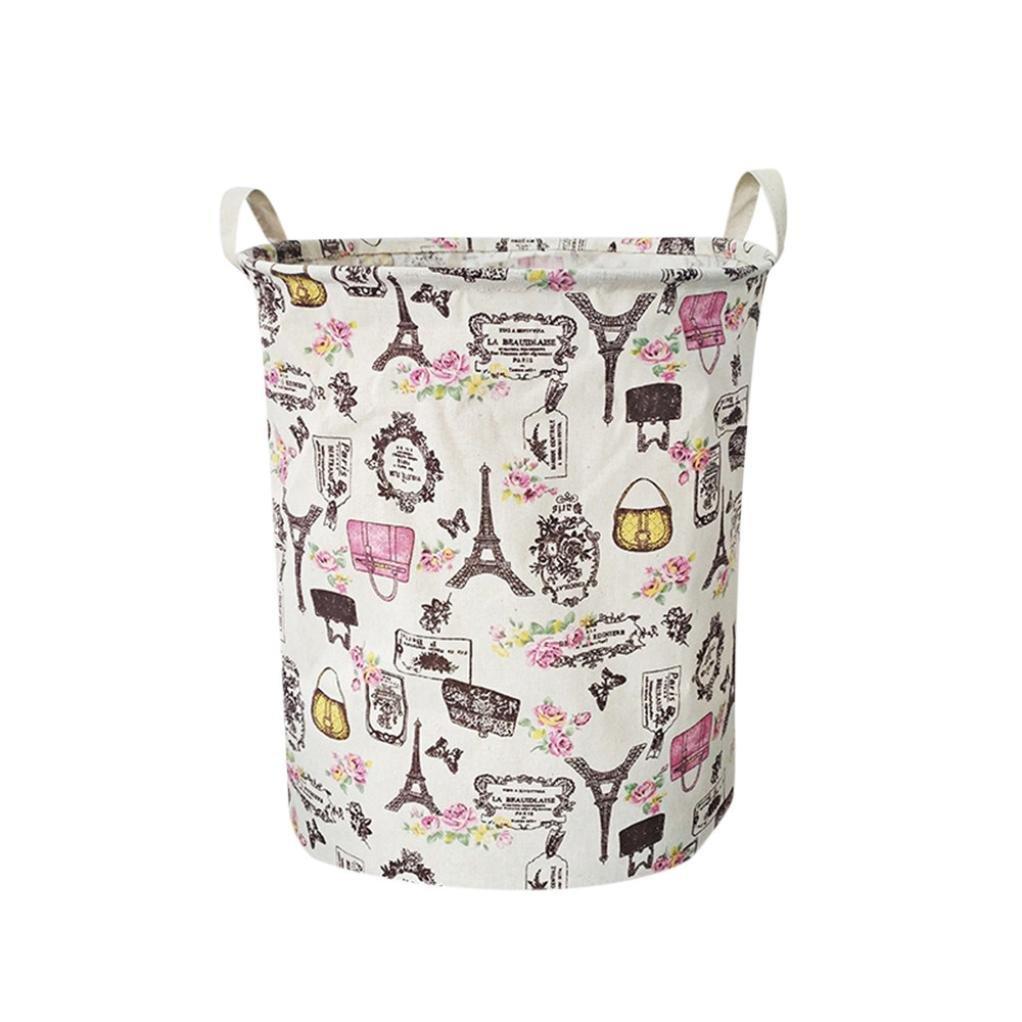 Naladoo Large Nursery Hamper Storage Basket 17.3x13.7 Fabric kids Laundry Hamper Folding with Waterproof PE Coating for Boys and Girls Toy Box/ Toy Storage/ Toy Organizer (A) Kitchen Gadgets
