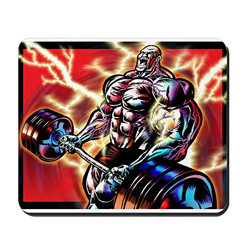 CafePress Bodybuilding CURL Non-Slip Rubber Mousepad, Gaming Mouse Pad