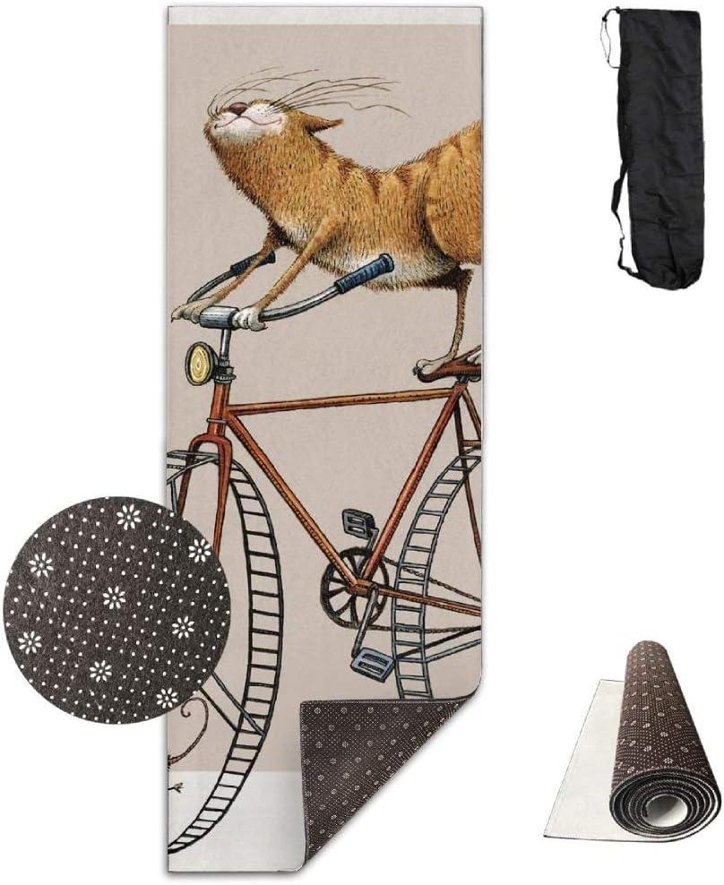 Louis Berry - Esterilla de Yoga Antideslizante para Bicicleta de ...