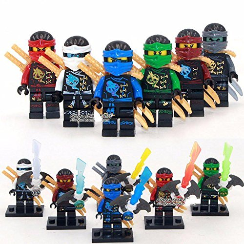 [gonggamtop 6 Sets Minifigures Flying Phantom Ninjago Building Toys Zane Lloyd Jay Blocks IR] (Diy Toothless Dragon Costume)