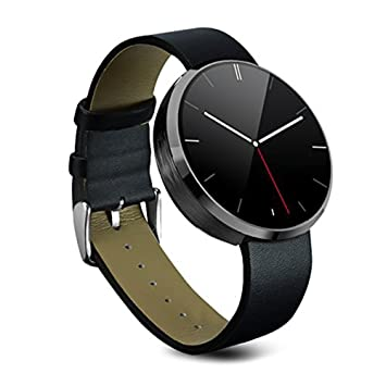 Smartwatch Montre Connectées,Stoga DM360 Classique Montre Intelligente Noir Montre électronique de Poignet Bluetooth Montre-Bracelet de Montre pour ...