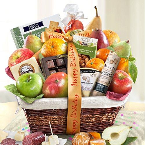 Golden State Fruit Gourmet Abundance Gift Basket, Birthday
